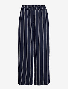Pari - bukser med brede ben - navy