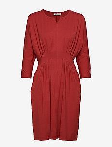 Nessie dress - RED OCHRE