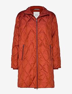 Tonya coat - RED OCHRE