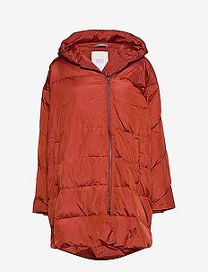 Tuala coat - wyściełane płaszcze - red ochre
