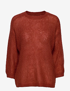 Floris top - RED OCHRE