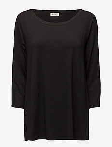 Cilla - long-sleeved tops - black