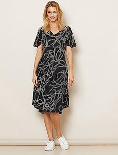 Nanette - do kolan & midi sukienki - black
