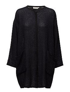 Josna jacket straight long slv - NAVY ORG