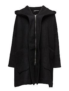 Tura coat oversize - BLACK-BURGUNDY ORG