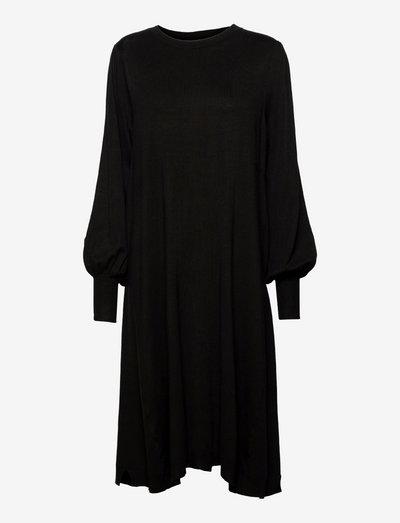 Nolina - gebreide jurken - black