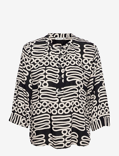 Delly - blouses met lange mouwen - black