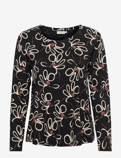 Badisna - blouses met lange mouwen - dusty rose