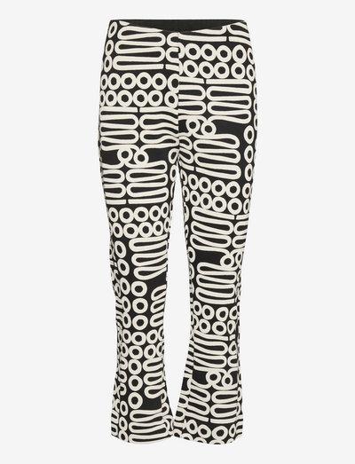 Paba - broeken med straight ben - black