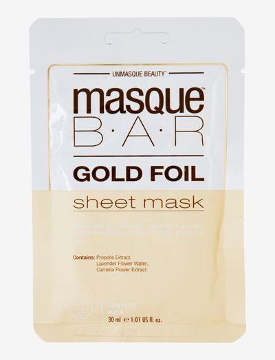 MasqueBar Foil Gold Sheet Mask - ansiktsmasker - clear