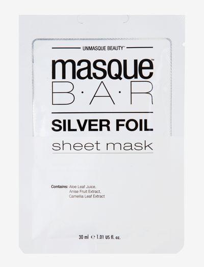 MasqueBar Foil Silver Sheet Mask - ansiktsmasker - clear