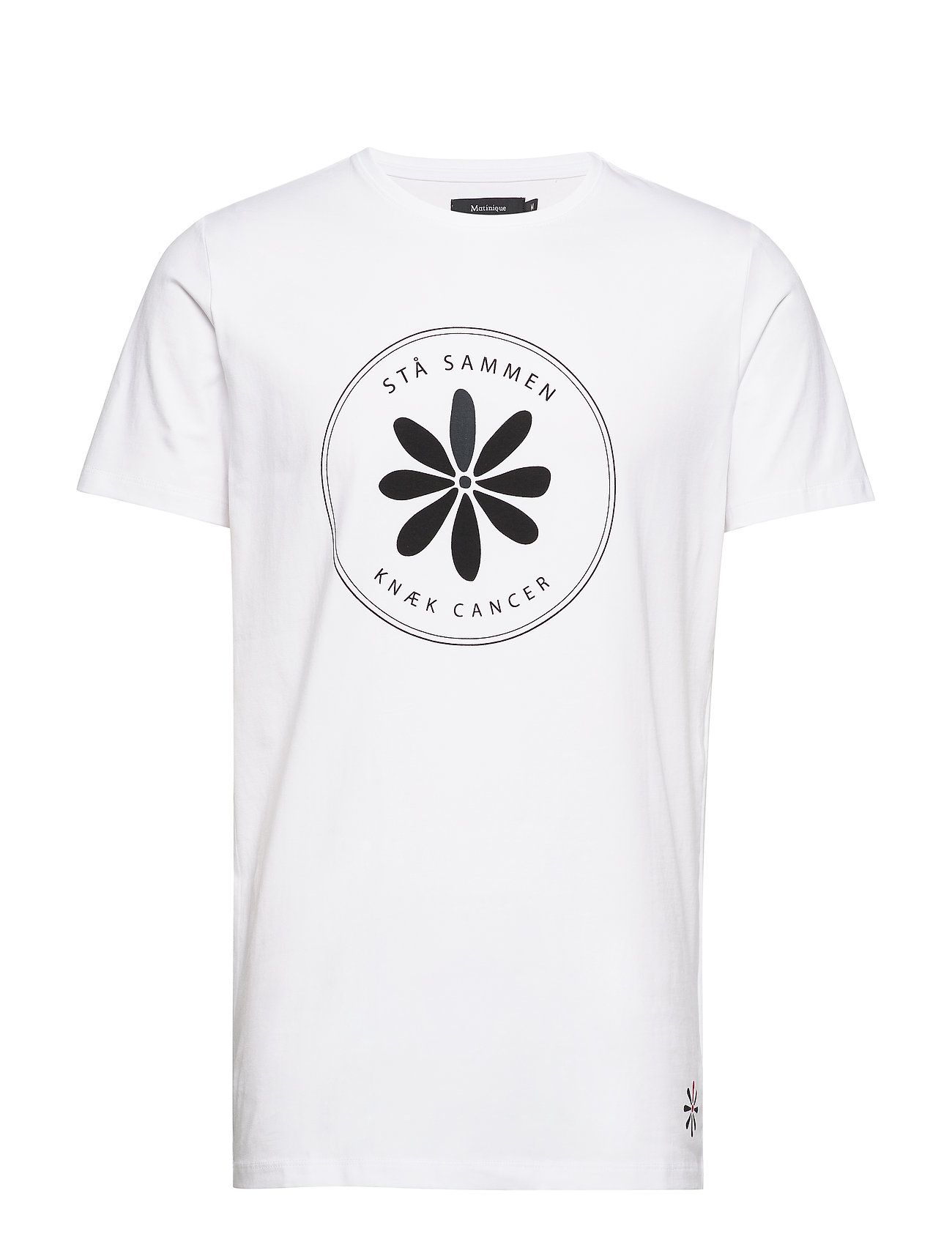 Matinique Knæk Cancer Knæk Cancer t-shirt - WHITE
