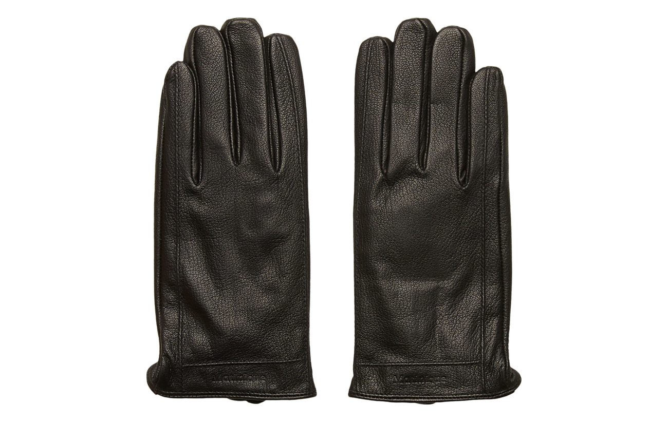 Matinique GrooveMA Grained Leather Glove - BLACK