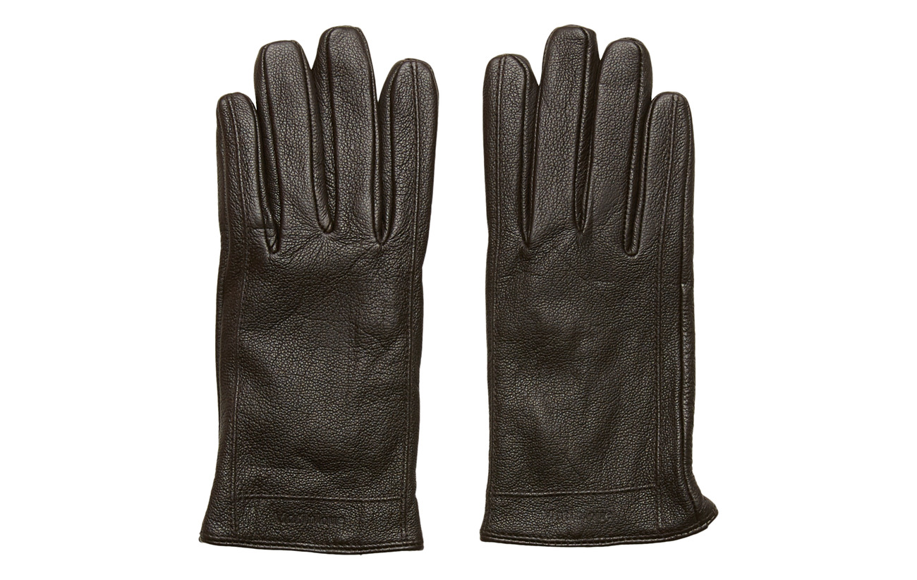 Matinique GrooveMA Grained Leather Glove - DARK BROWN