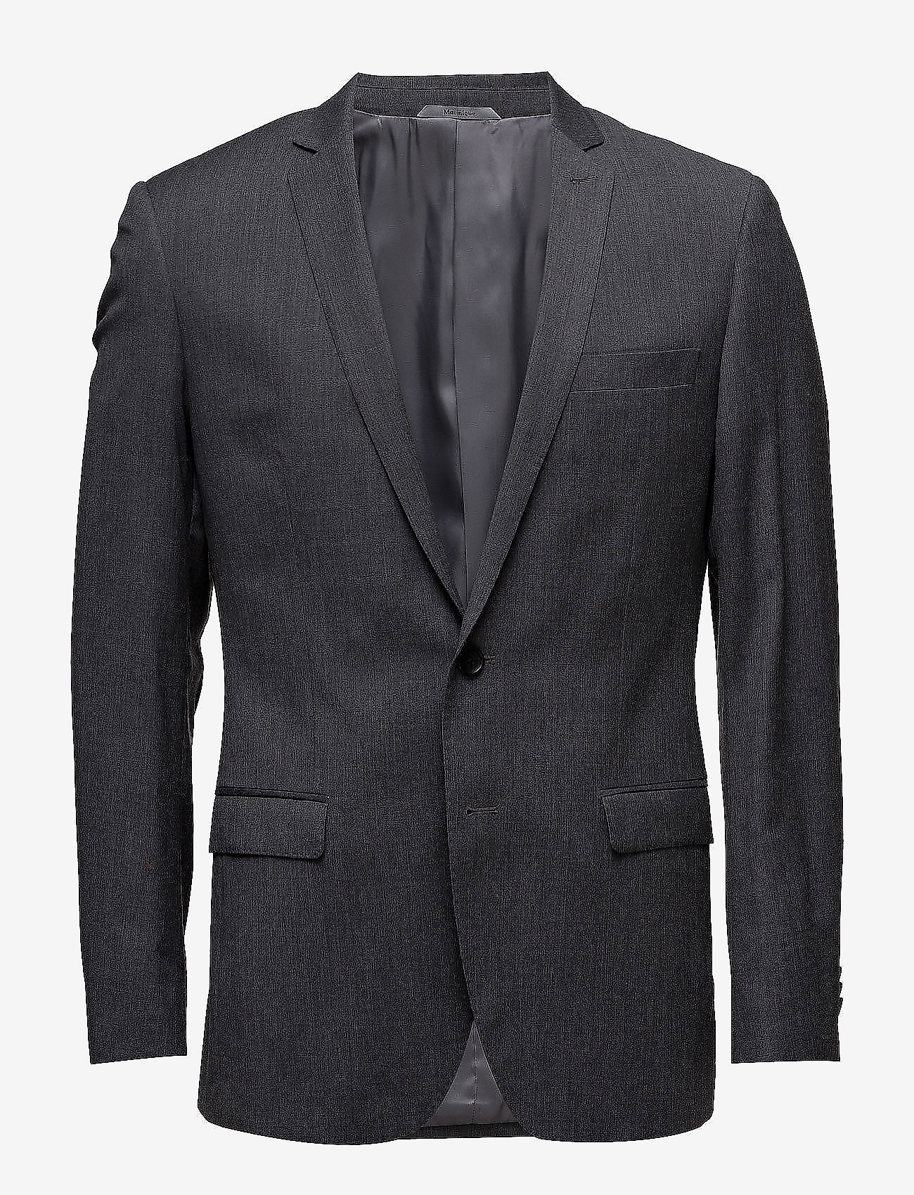 Matinique - BARRET B - single breasted blazers - dark grey mel
