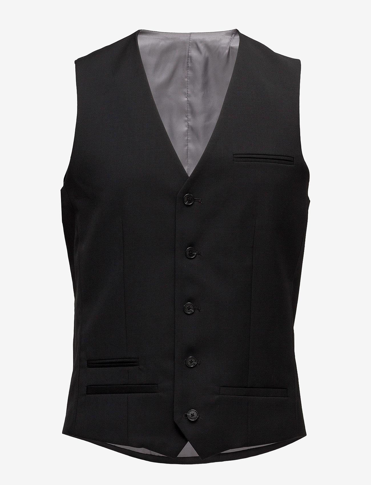 Matinique - Breck - waistcoats - black - 1
