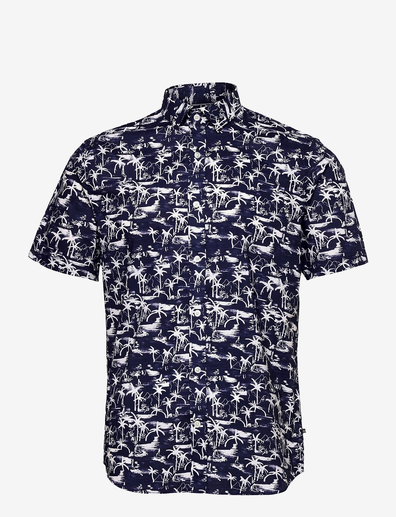 Matinique - MAtrostol SS - geruite overhemden - vallarta blue - 1