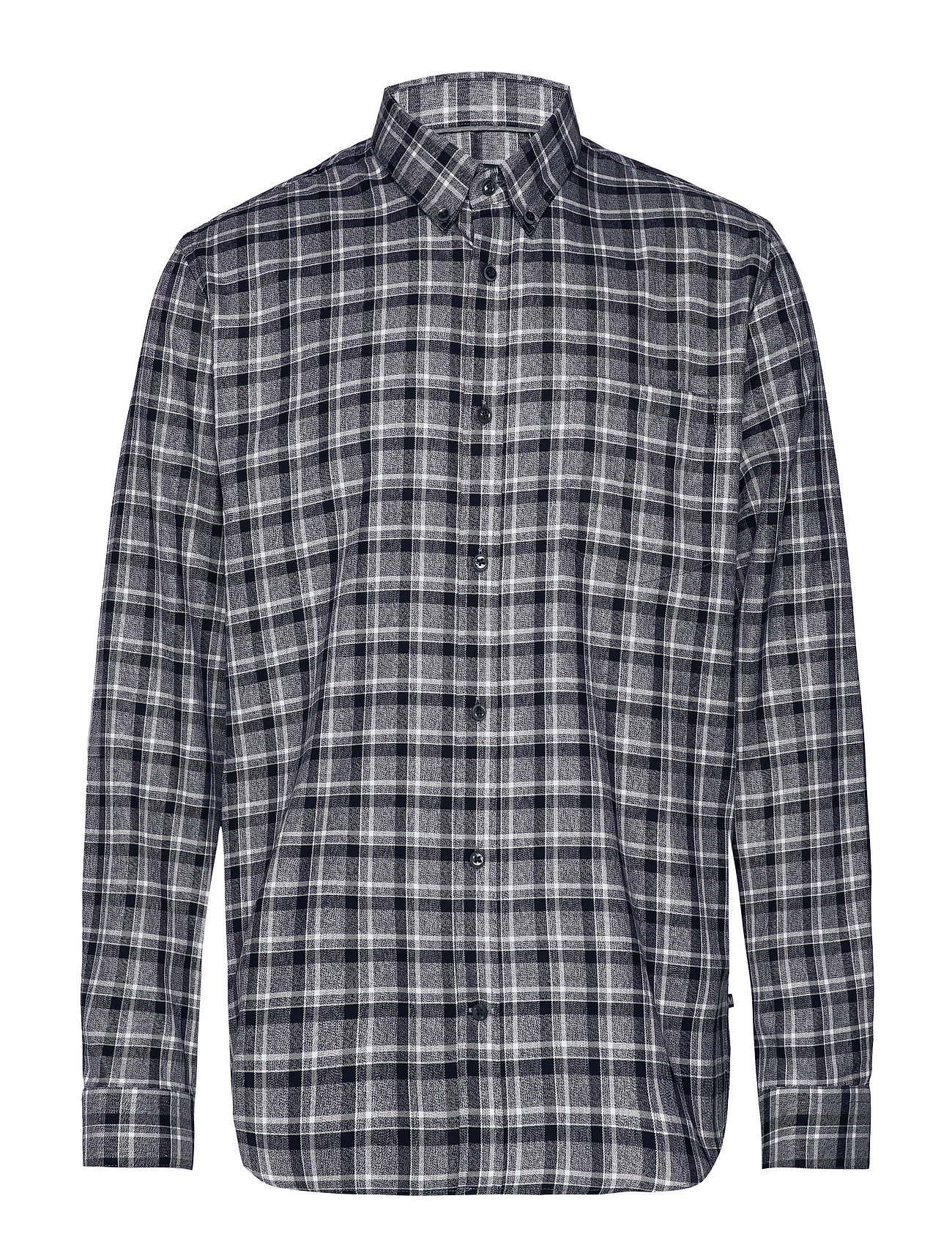 Matinique Trostol BD Winter Check - DARK GREY MELANGE
