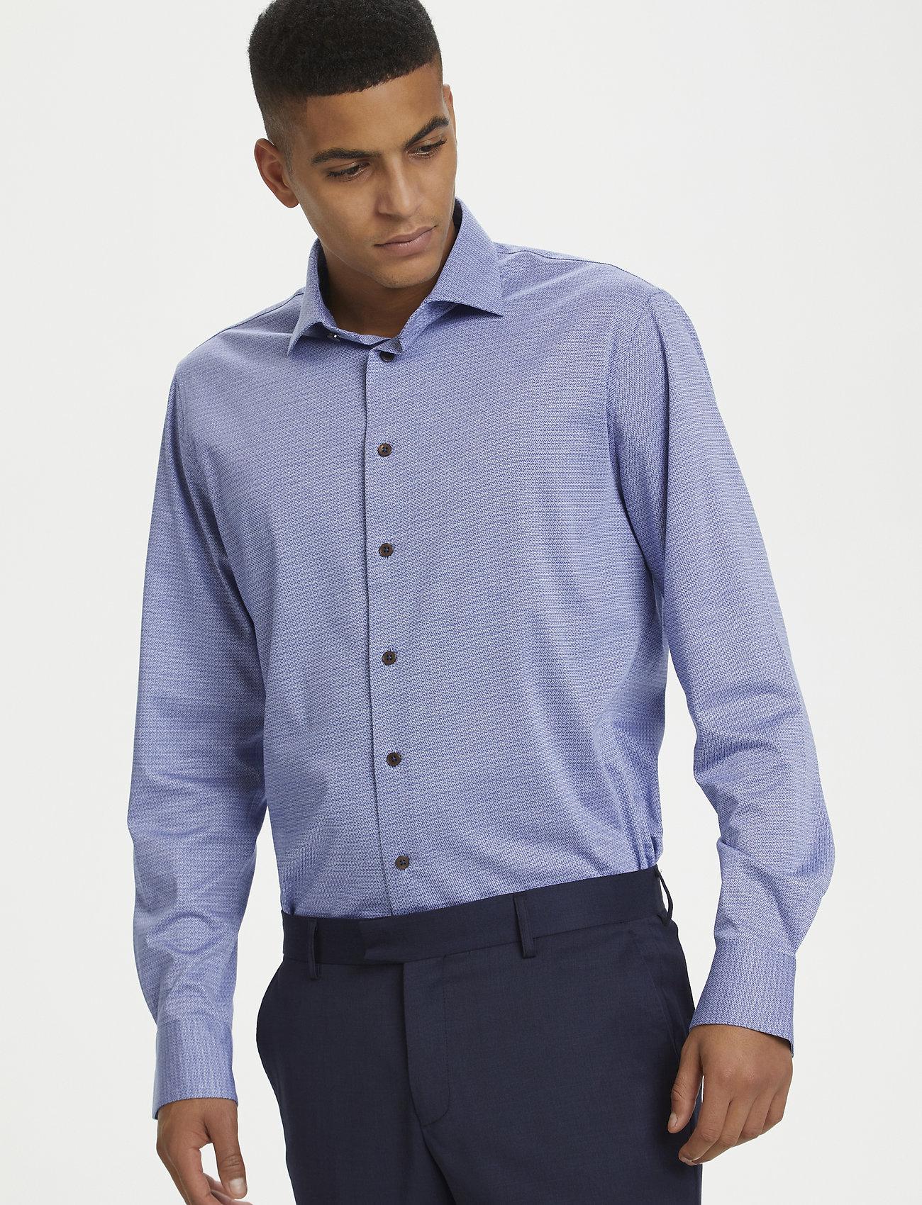 Matinique - MAmarc N - geruite overhemden - ink blue - 4