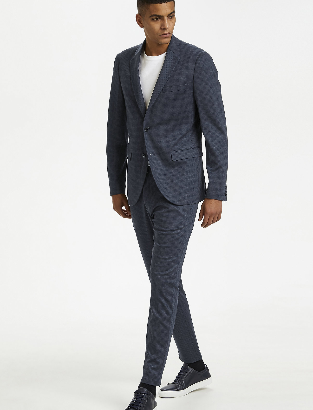Matinique - MAgeorge Jersey - single breasted blazers - dust blue - 0