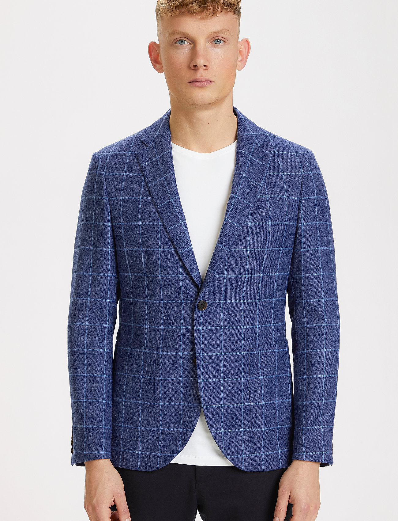 Matinique - MAgeorge - single breasted blazers - dust blue - 0