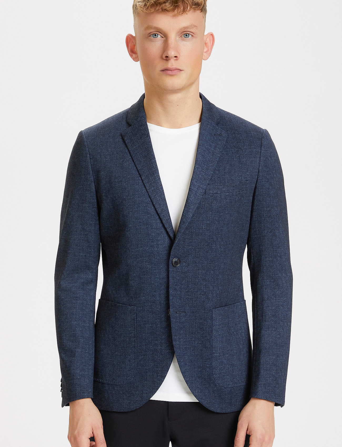 Matinique - MAgeorge Jersey - single breasted blazers - dark navy - 0