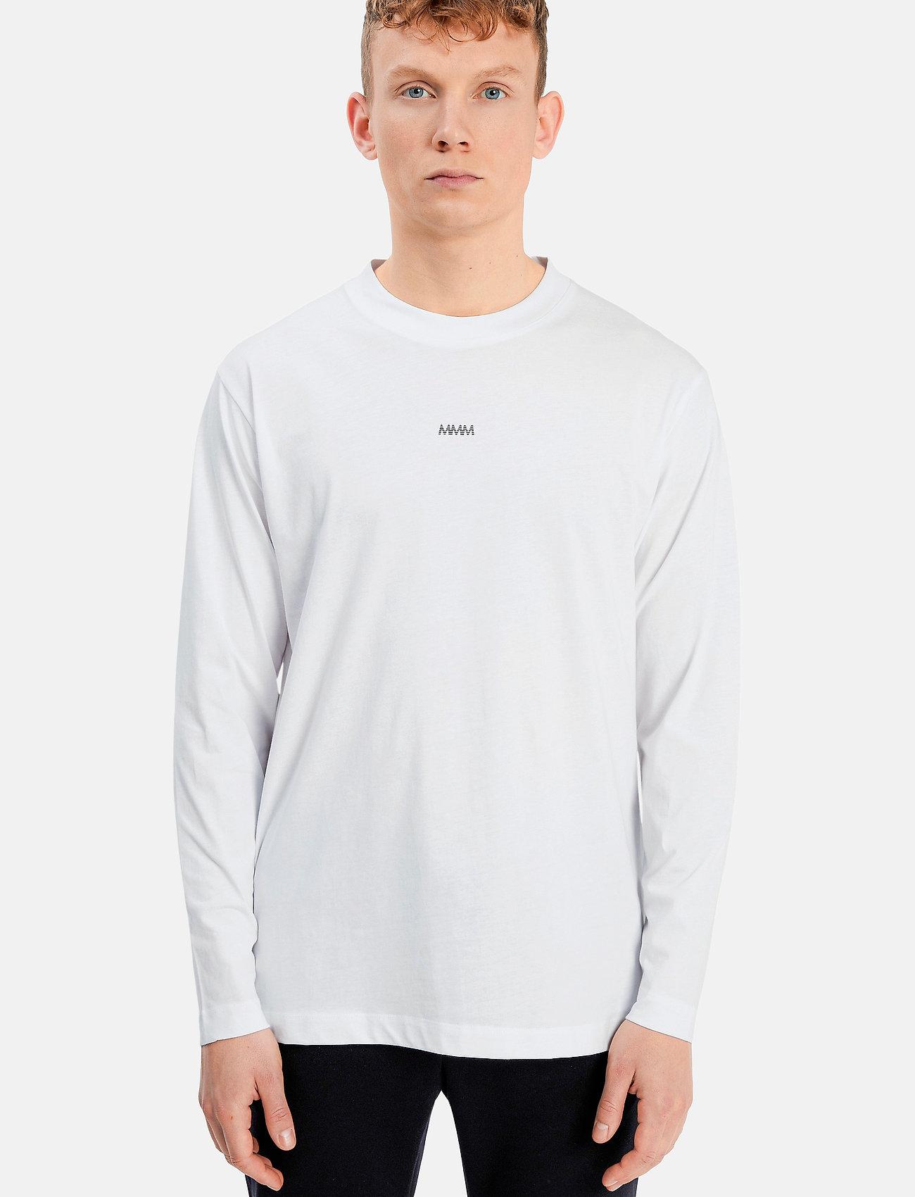 Matinique - MALogo T-shirt LS - t-shirts basiques - white - 0