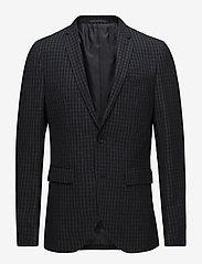 Matinique - George Square Check Blazer - single breasted blazers - dark navy - 0