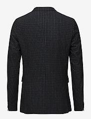 Matinique - George Square Check Blazer - single breasted blazers - dark navy - 1