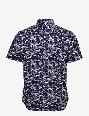 Matinique - MAtrostol SS - geruite overhemden - vallarta blue - 2