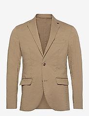 Matinique - MAnoel - single breasted blazers - khaki - 1