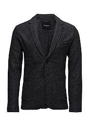 Zane Boucle knit - DRK GREY MELANGE
