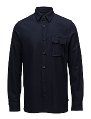 Barto Wool shirt - DARK NAVY
