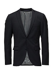 George F Square Pattern Suit - DARK NAVY
