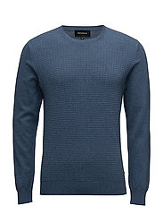 Triton Textured Knit - DOVE BLUE