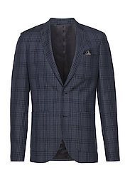 George Check Blazer - NAVY BLAZER