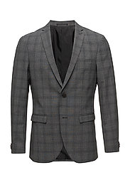 George F Grey Check - MED.GREY MELANGE