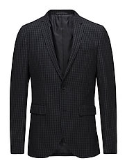 George Square Check Blazer - DARK NAVY
