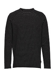 Jairo Long Sleeve stripe - BLACK