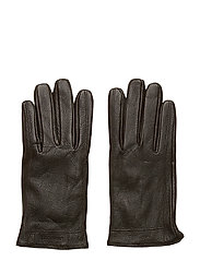 GrooveMA Grained Leather Glove - DARK BROWN