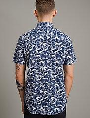 Matinique - MAtrostol SS - geruite overhemden - vallarta blue - 4