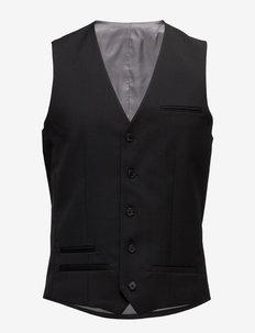 Breck - vest - black