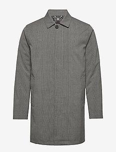 Bowen - trench coats - drk grey melange