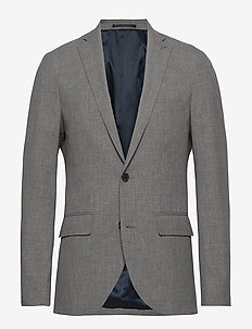 George F - single breasted suits - lt grey melange