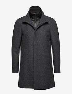 Harvey N - manteaux de laine - med.grey melange