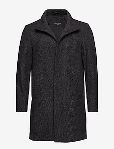 Harvey Structured Wool - ullfrakker - black