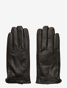 GrooveMA Grained Leather Glove - BLACK
