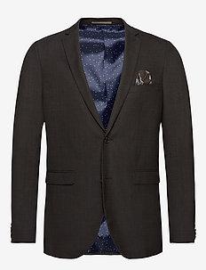 George F - single breasted blazers - dark brown