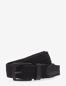 BraidonMA - braided belts - black