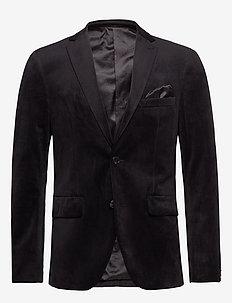 George F - single breasted blazers - black